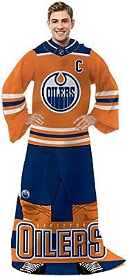 NHL Edmonton Oilers Blanket with Sleeves - Edmonton Oilers Comfy Throw Blanket