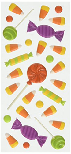 - Paper House Productions STP-0044E Halloween Candy Puffy Stickers