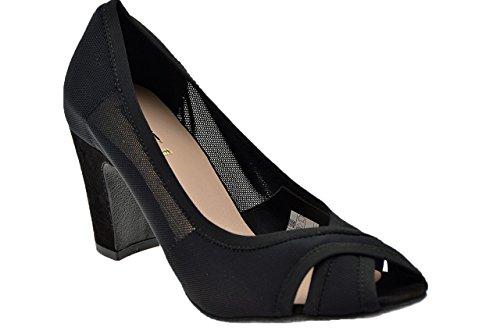 Keys Court Schuh Ist Aufgetaucht Stretch Plateaus. schwarz