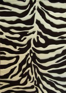 Sculpted Modern Zebra Print Rug 5 Ft. 2 In. X 7 Ft. 3 In. # S245 Chocolate - Zebra And Print Cheetah