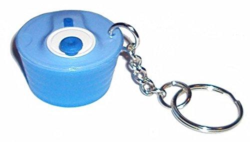 Miniature Tupperware Spin N Save Salad Spinner Keychain Blue