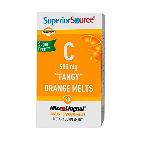 Superior Source Vitamin C Multivitamins, Tangy Orange Melts, 500 Mg, 90 Count