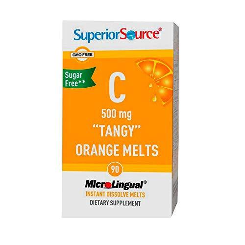 Superior Source Vitamin C Multivitamins, Tangy Orange Melts, 500 Mg, 90 Count