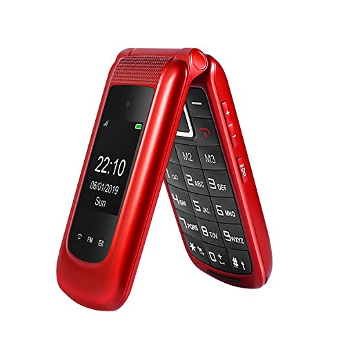 """Uleway Unlocked Flip Phone 3G SOS Button Senior Flip Phones Unlocked 2.4"""" Screen Easy to Use Basic Cell Phone for…"""
