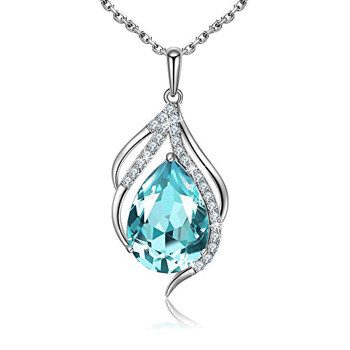 Mother's Day Gifts, Teardrop of Angel Pendant Necklace Jewelry Mother Gift with Crystals from Austria