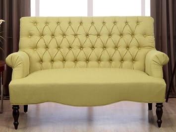 2 Sitzer Sofa Stoff Barock Manifia Grun Amazon De Kuche Haushalt
