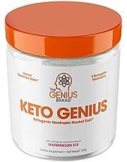 Keto Genius (BHB Exogenous Ketones + Nootropics) – Ketogenic Energy & Focus Supplement - Perfect Nootropic Brain Fuel to Spark Ketosis & Boost Clarity – Pure Ketone Drink Powder w/Alpha GPC –15sv