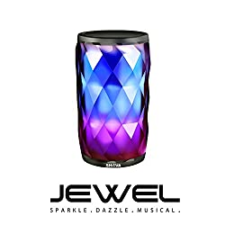SHAVA Night Light with Bluetooth Speaker, SHAVA Jewel Portable Wireless Bluetooth Speaker Touch Control 6 Color LED Themes Bedside Table Lamp, Speakerphone/ PC / MicroSD/ AUX-In Supported from SHAVA