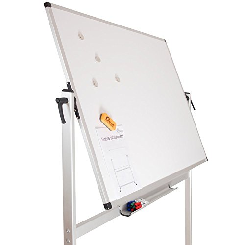 XBoard School Office Mobile Magnetic Dry Erase Board on Wheels,Double-Sided Rolling Whiteboard with Aluminum Stand, 60'' x 40'' by XBoard (Image #1)