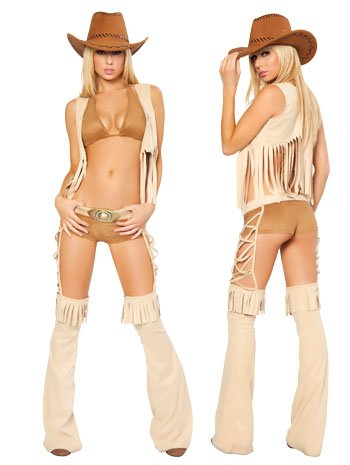 Sexy Easy Rider Cowgirl Costume - MEDIUM/LARGE (Sexy Cowgirl Lingerie)