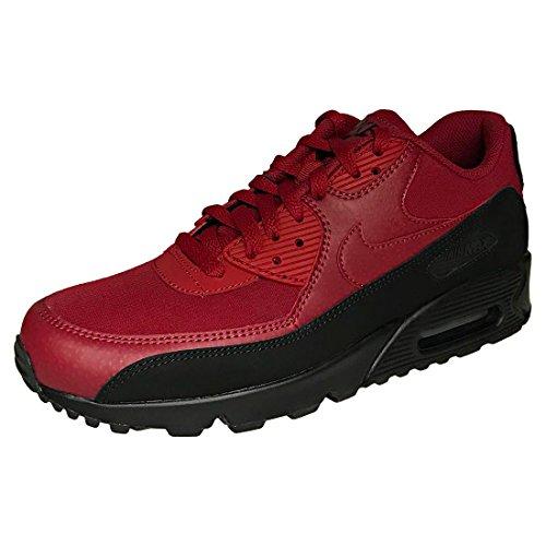 Nike Air Max 90 Essential, Scarpe da Ginnastica Uomo Nero (Black/Red Crush 010)