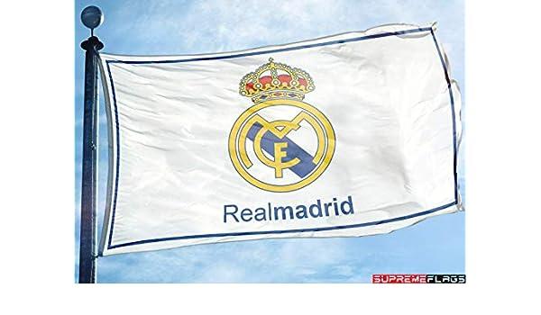 Bandera del Real Madrid 3 x 5 pies Blanco España Futbol Bandera de ...