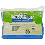 Happy Little Camper Flushable Toddler Wipes with Organic Aloe, Septic Safe, 150 Count