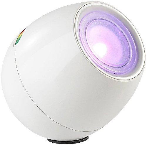 Lunartec Weiße LED-Stimmungsleuchte mit Touch-Farbregler, 256 Farben
