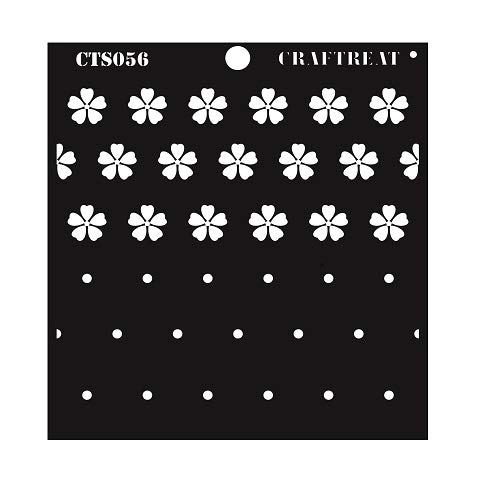 CrafTreat Layered Stencil Flower Center 6X6 CTS056