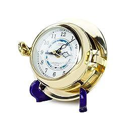 Nagina International Nautical Time Tide Premium Polished Brass Porthole Clock | Maritime Decor & Gifts