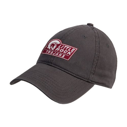 Arkansas Little Rock Charcoal Twill Unstructured Low Profile Hat 'Little Rock Trojans - Official Mark'