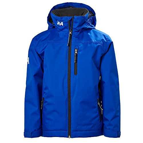 (Helly Hansen Jr Crew Midlayer Jacket, Olympian Blue, Size 12)