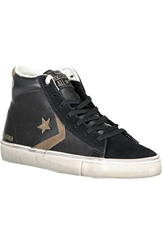 001 Distressed Lifestyle Leather Unisex Chip Adulto Vulc Mid Nero Pro Ginnastica Da chocolate Converse Scarpe Alte black xqIdaq