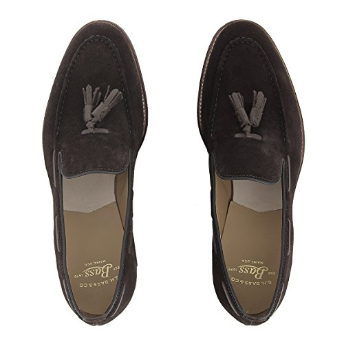 G.H. Bass Co. Men's Monogram Tassel Loafer II Dark Brown Suede 5hiauT