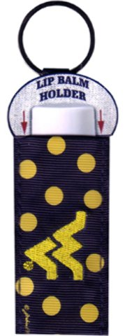 Game Day Outfitters 1936955 West Virginia University - Keychain Lip Balm Holder - Case of 144 by Game Day Outfitters