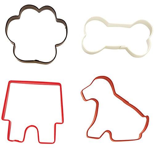 Wilton Set de 4 cortadores de Galletas con diseño de Mascotas ...