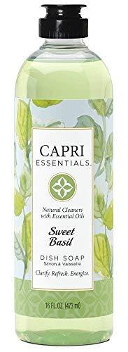 - Capri Essentials Dish Soap- Sweet Basil, Case of 6