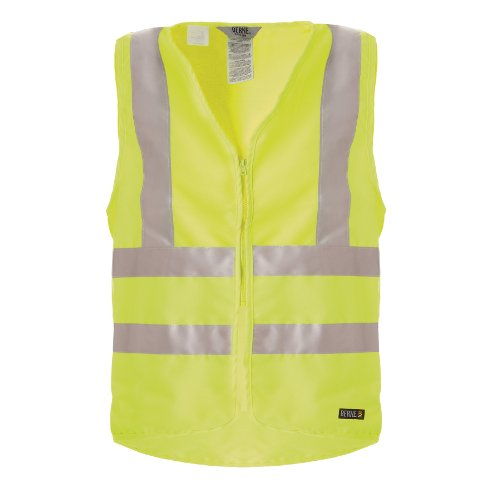 Berne Apparel HVV043YWR520 2X-Large Regular Hi-Visibility Deluxe Vest - Yellow Large Regular Hi Visibility