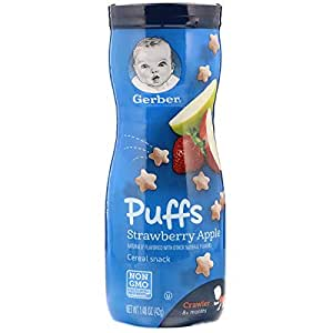 Gerber Puffs Cereal Snack Strawberry-apple 1.48 Oz (42 G)