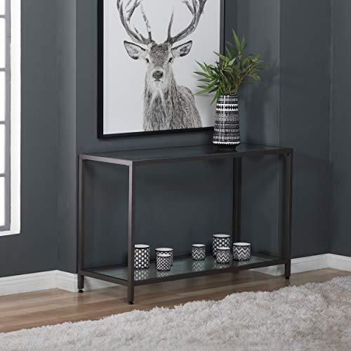 Studio Designs Home 71001.0 Camber Console Table In Pewter With Clear Glass -