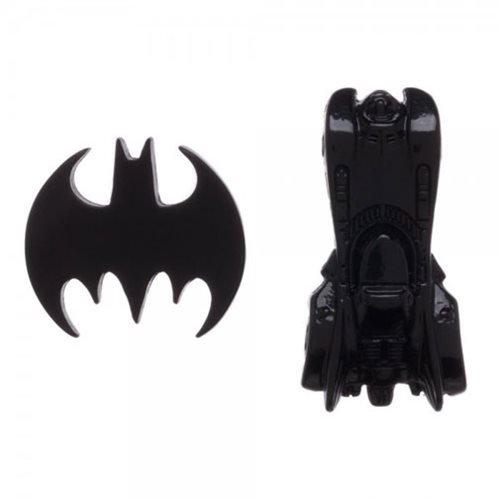 Batman and Batmobile Lapel Pin Button Set (Enamel Pin Batman)