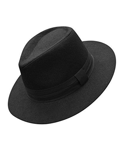Men's Solid Color Felt Fedora Hat