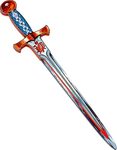 (Liontouch Knight Sword Amber Dragon, Red/Silver )