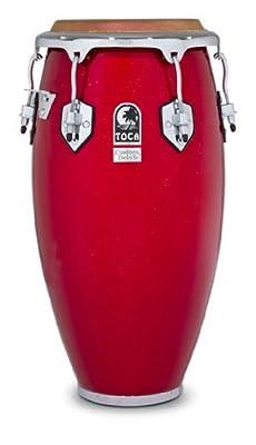 Toca 4611FR Custom Deluxe Fiberglass Quinto - Red Sparkle