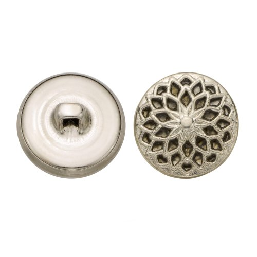C&C Metal Products 5353 Filigree Metal Button, Size 30 Ligne, Nickel, 36-Pack by C&C Metal Products Corp