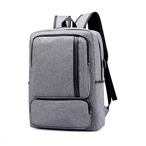 Business Travel 15 Backpack Waterproof 6 Men's USB Bag New Grey AFA5rxw