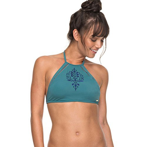 Roxy Junior's Salty Crop Top, Brittany Blue, L