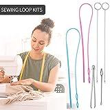 6 Pieces Sewing Loop Kit, Include Loop Turner Hook
