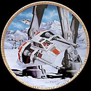 Star Wars Collectible Plates - Hamilton Star Wars Snowspeeders Collectible Plate