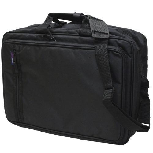 EXAS Mens A3 Size Attache Case Brief Case Black