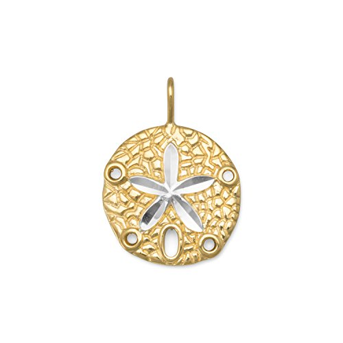 - Sand Dollar Pendant Two Tone Yellow Gold-plated Sterling Silver, Pendant Only