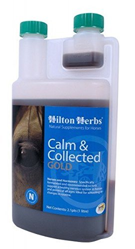 Hilton Herbs Calm and Collected Gold Liquid Herbal Supplement for Horses, 1-Liter Bottle by Hilton Herbs by Hilton Herbs Ltd
