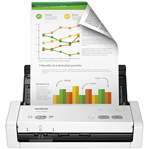 Brother Wireless Portable Compact Desktop Scanner, ADS-1250W, Easy-to-Use, Fast Scan Speeds, Ideal for Home, Home Office or On-the-Go Professionals (Best Small Office Scanner)