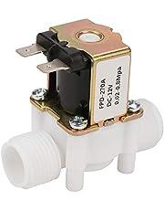 DC12V N/C Normalt stängd vatten magnetventil, G1/2-tums elektrisk magnetventil i plast för vattendispens
