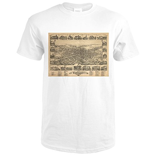 Vineland, New Jersey - Panoramic Map (Premium White T-Shirt - Vineland Premium
