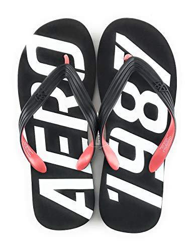 Aeropostale Flop Flip (Aeropostale Men's Flip Flop Sandal Large Black 8918)