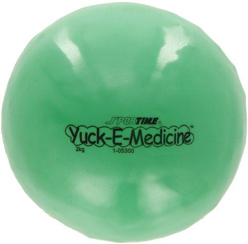 Sportime Yuck-E-Medicine Ball, 7 Inches, 4-2/5 Pounds, Green