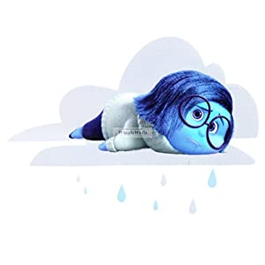 5 Inch Sadness Inside Out Movie Disney Pixar Removable Peel Self Stick Adhesive Vinyl Decorative Wall Decal Sticker Art Kids Room Home Decor Boy Children Nursery Baby 5×4 Inch Tall