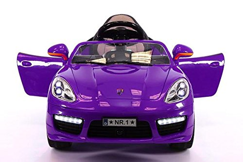 KIDS ELECTRIC RIDE-ON CAR WITH R/C PARENTAL REMOTE BATTERY POWERED TOY ()