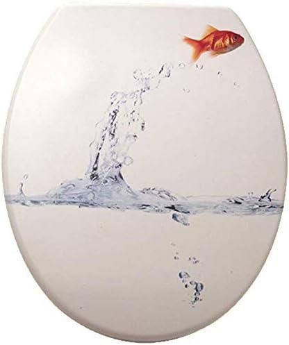 S-graceful便座U/V/O形状印刷トイレ蓋、家族用、白-45 * 38cmの上部固定便座カバー